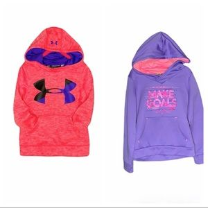 Champion & Under Armour Girl's set of Hoodies